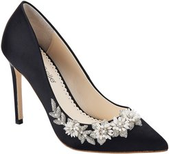 Jasmine Embellished Silk Pump