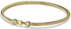 Cable Collectibles Buckle Bracelet With Diamonds In 18K Gold, 3Mm