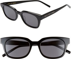 Chess Club 50Mm Square Sunglasses - Black