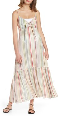 Tie Front Cover-Up Maxi Dress