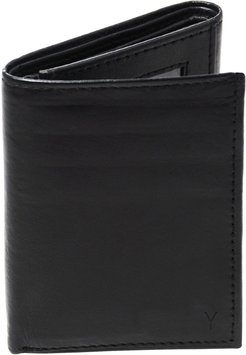 'Oxford' Monogram Leather Trifold Wallet - Grey