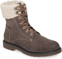 Dillon Fleece Cuff Lace Up Boot
