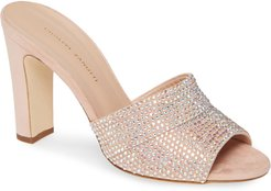 Crystal Embellished Slide Sandal