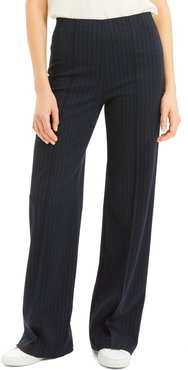 Stripe Seamed Wide Leg Trousers