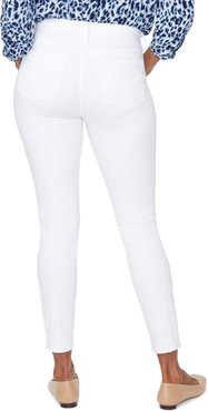 Ami Exposed Button Stretch Ankle Jeans