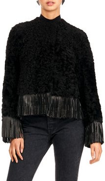 Shearling Lamb Jacket With Fringe