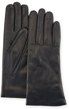 Cashmere-Lined Napa Leather Gloves