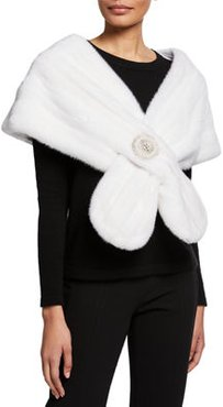 Mink Fur Stole With Frayed Chain