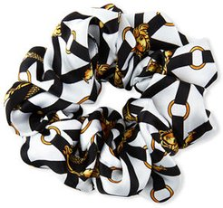 Baroque Print Silk Scrunchie