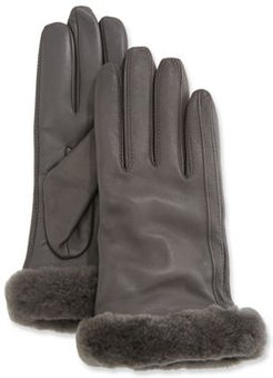 Genuine Leather Shorty Tech Gloves