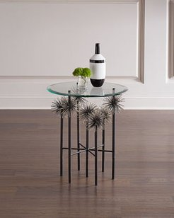 Boom Glass Top End Table