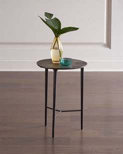 Circle Etched Accent Table