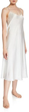 Long Silk Nightgown