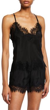 Lucy Lace-Trim Cropped Camisole