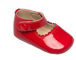 Scalloped Leather Mary Jane, Baby