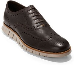 ZeroGrand Leather Wing-Tip Oxfords