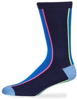 Vertical Neon Knit Socks