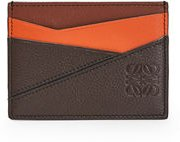 Puzzle Colorblock Leather Card Holder