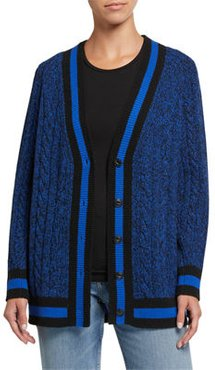 Theon Cable-Knit Wool Cardigan