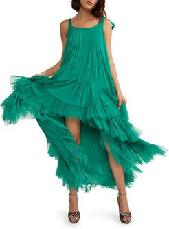 Evelyn Tiered Ruffle High-Low Dress