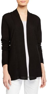 Petite Shaped Fine Tencel/Silk Cardigan
