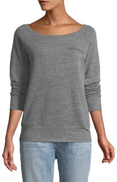 Nap Time Boat-Neck Long-Sleeve Pullover Sweater