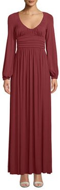 Mallory Scoop-Neck Maxi Dress