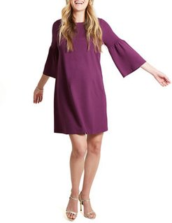 Maternity Ponte Bell-Sleeve Dress