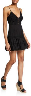 Pauline Sleeveless Lace Short Dress