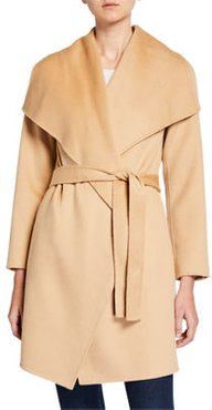 Double Face Cashmere Belted Shawl-Collar Coat