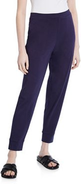 Organic Cotton Jersey Tapered Ankle Pants