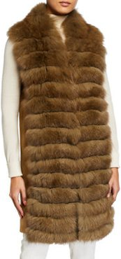 Cashmere & Fox Fur Tunic Vest
