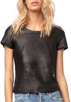 New Guard Cropped Leather Tee