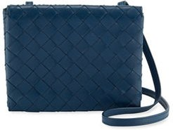Intrecciato Leather Flap Wallet On Chain Crossbody