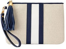 Wristlet Canvas Tassel Zip Pouch Bag