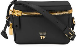 Metro Small Soft Leather Box Shoulder Bag with Golden Hardware