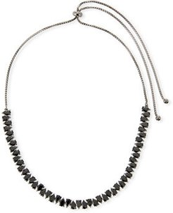 Monarch Jagged Edge Crystal Choker Necklace
