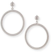 18k Large Round Gypsy Earrings