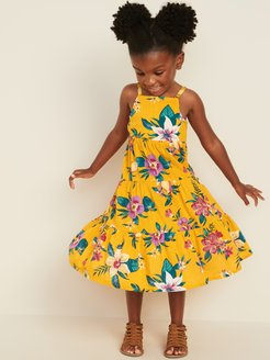 Tiered Floral-Print Maxi Sun Dress for Toddler Girls