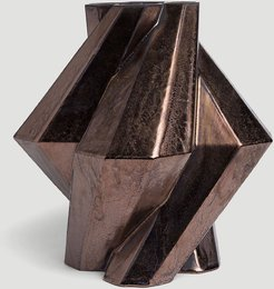 Fortress Pillar Vase in Bronze size One Size