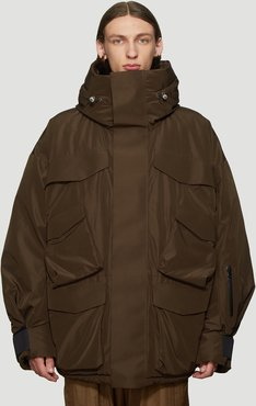 Layer Long Parker in Brown size L