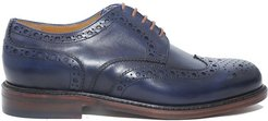 derby Lace-up In Smooth Leather With Goodyear Processing
