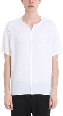 White Cotton And Line T-shirt