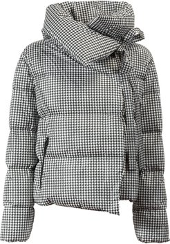 Bacon Checked Collared Padded Jacket