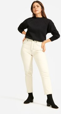 Cheeky Straight Jean by Everlane in Sandstone / Charcoal, Size 31
