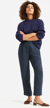 Put-Together Pleat Pant by Everlane in Navy, Size 00