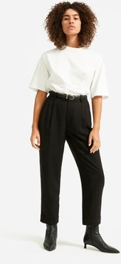 Put-Together Pleat Pant by Everlane in Black, Size 6