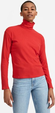 Air Turtleneck Sweater by Everlane in Red, Size S