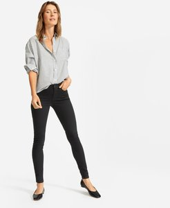 Authentic Stretch Mid-Rise Skinny by Everlane in Black, Size 23