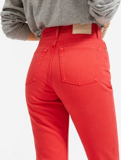 '90s Cheeky Straight Jean by Everlane in Overdyed Red, Size 26